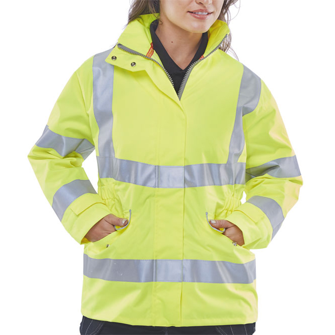 BSeen Ladies Executive High Visibility Jacket Medium Saturn Yellow Ref LBD30SYM *Up to 3 Day Leadtime*