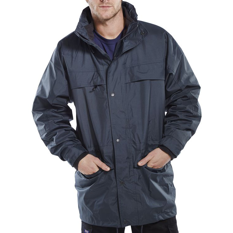 B-Dri Weatherproof Mowbray 3 In 1 Jacket Concealed Hood XL Navy Blue Ref MBNXL *Up to 3 Day Leadtime*