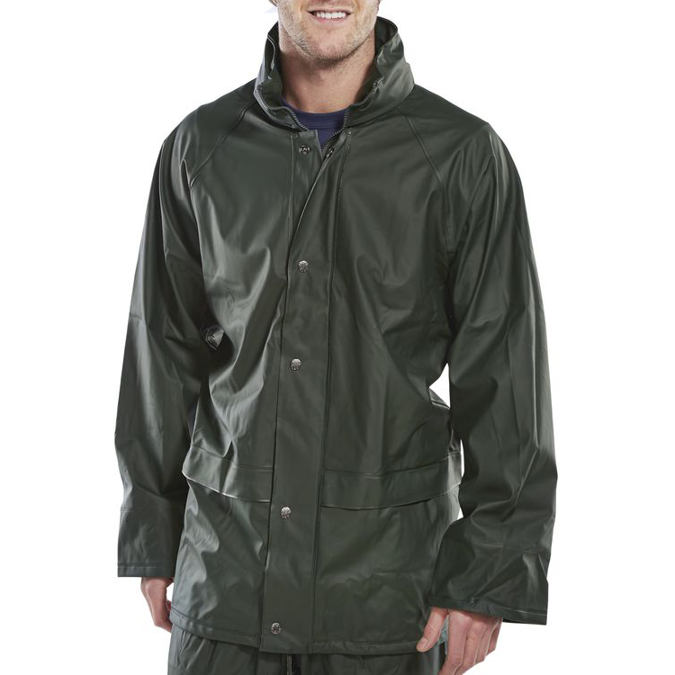 B-Dri Weatherproof Super B-Dri Jacket with Hood Small Olive Green Ref SBDJOS *Up to 3 Day Leadtime*