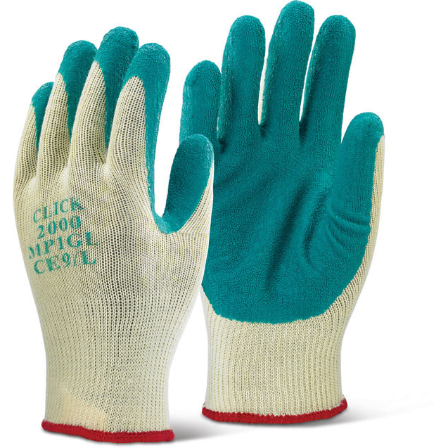 Hand Protection Click2000 Multi-Purpose Gloves L Green Ref MP1GL Pack 100 *Up to 3 Day Leadtime*