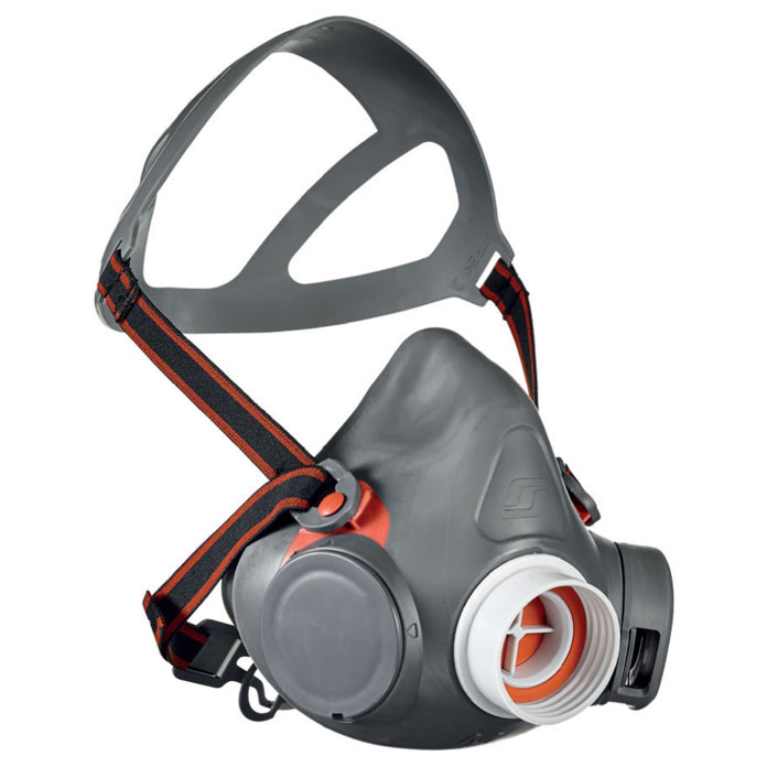 Scott Aviva 40 Half Mask with Reflex Seal Small Grey Ref 8005000 *Up to 3 Day Leadtime*