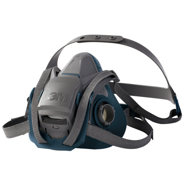 3M Reusable Half Mask Four Point Adjustment Head Harness Medium Grey Ref 6502QL *Up to 3 Day Leadtime*