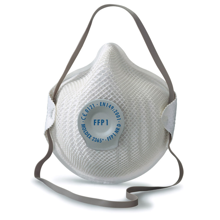 Moldex FFP1V Half Mask with ActivForm Seal and DuraMesh Shell Ref M2365 [Pack 20] Up to 3 Day Leadtime