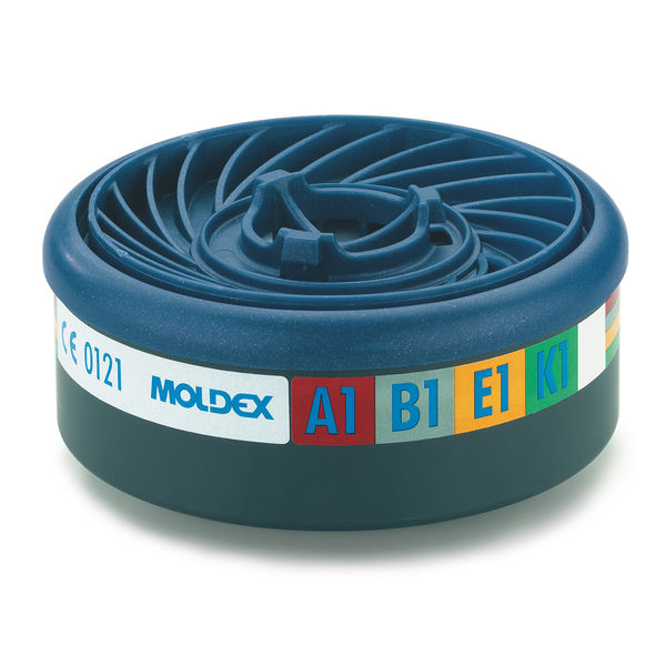Moldex Abek1 7000/9000 Particulate Filter EasyLock System Blue Ref M9400 [Pack 5] Up to 3 Day Leadtime