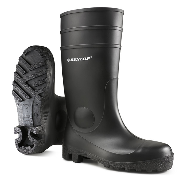 Footwear Dunlop Protomastor Safety Wellington Boot Steel Toe PVC Size 10 Black Ref 142PP10 *Up to 3 Day Leadtime*
