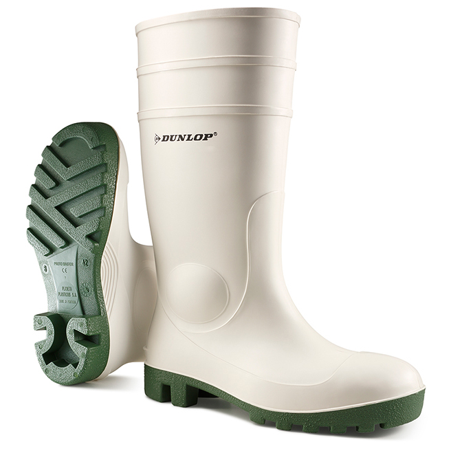 Footwear Dunlop Protomaster Safety Wellington Boot Steel Toe PVC 10.5 White Ref 171BV10.5 *Up to 3 Day Leadtime*