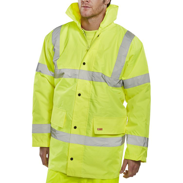 B-Seen High Visibility Constructor Jacket 6XL Saturn Yellow Ref CTJENGSY6XL *Up to 3 Day Leadtime*