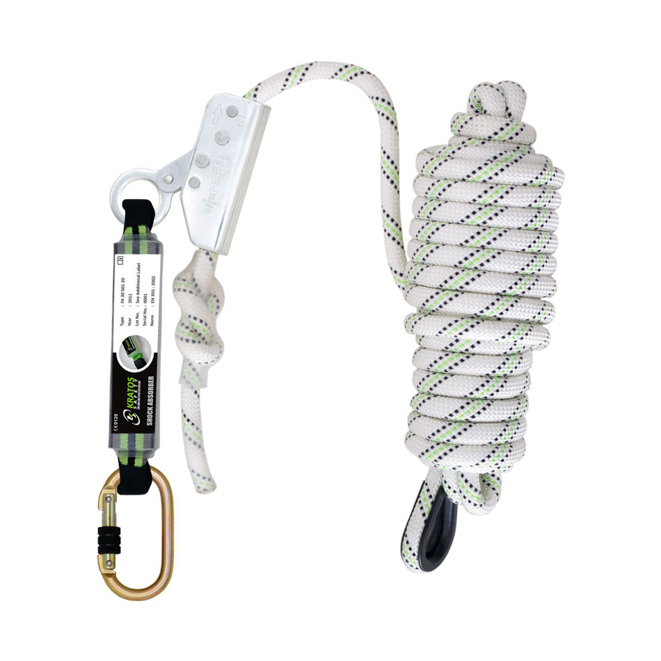 Safety Belts / Harness / Lanyards Kratos Fall Arrester On Kernmantle Rope 20 Mtr Ref HSFA2010220 *Up to 3 Day Leadtime*