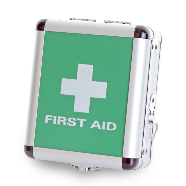Click Medical First Aid Case Aluminium Small Ref CM1015 *Up to 3 Day Leadtime*
