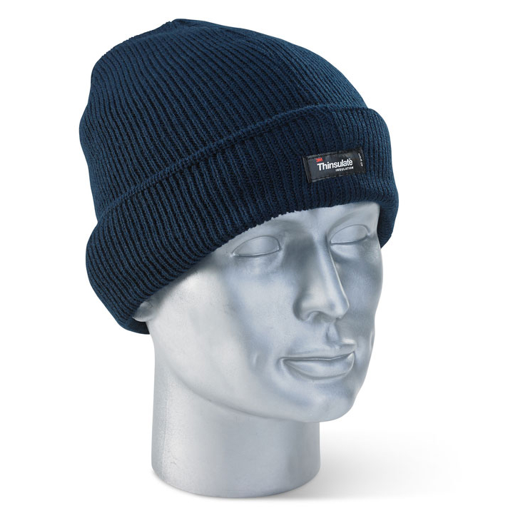 Click Workwear Thinsulate Beenie Hat Navy Blue Ref THHN Pack 10 *Up to 3 Day Leadtime*
