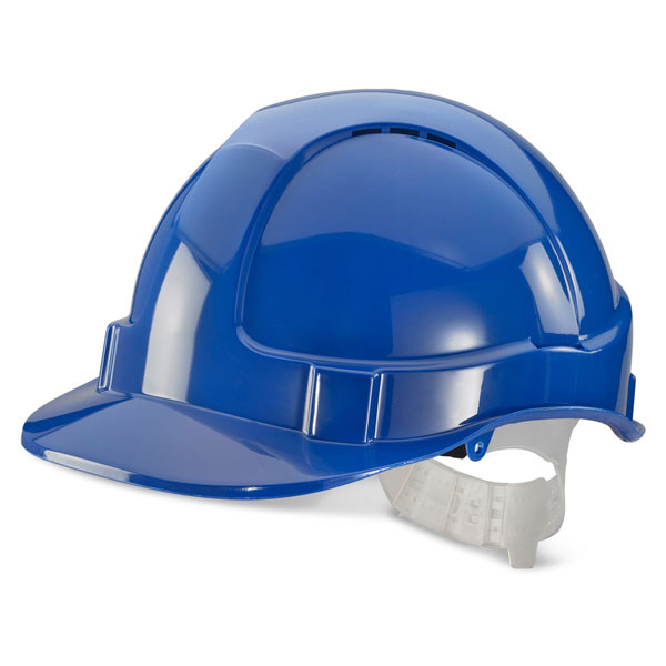 Head Protection B-Brand Economy Vented Safety Helmet Blue Ref BBEVSHB *Up to 3 Day Leadtime*