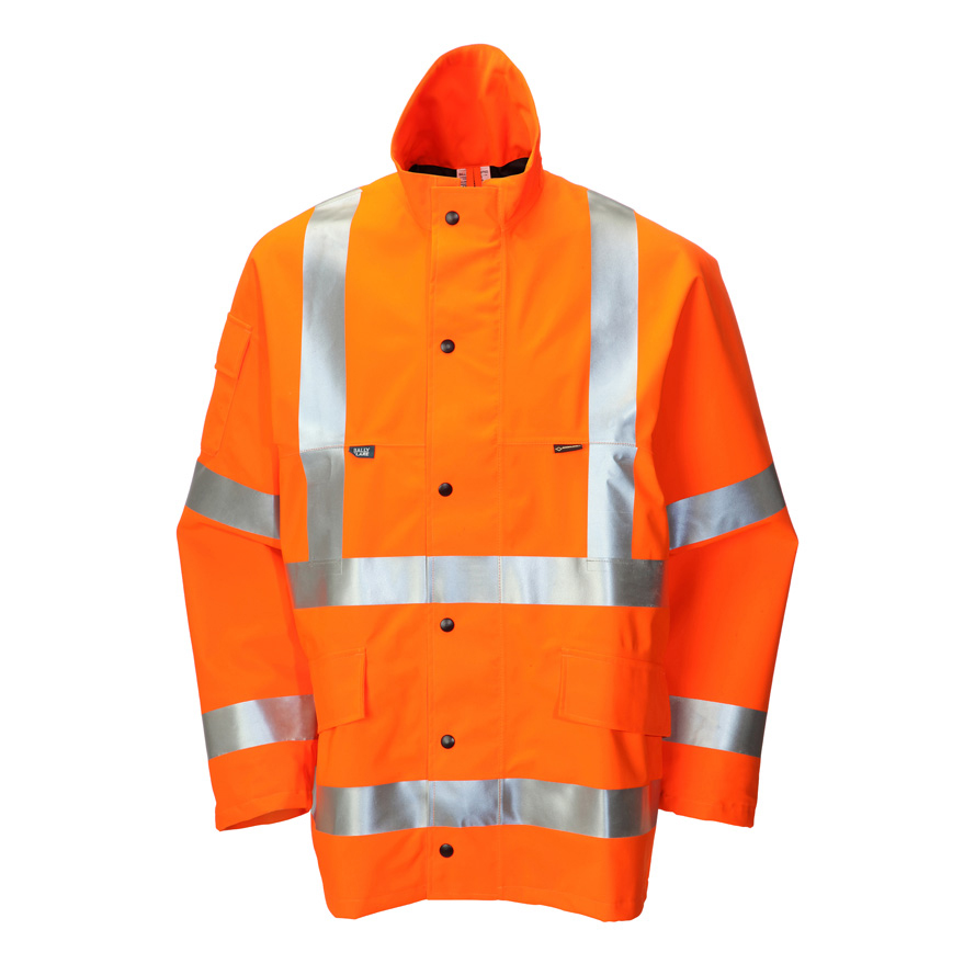 Weatherproof B-Seen Gore-Tex Jacket for Foul Weather Polyester Medium Orange Ref GTHV152ORM *Up to 3 Day Leadtime*