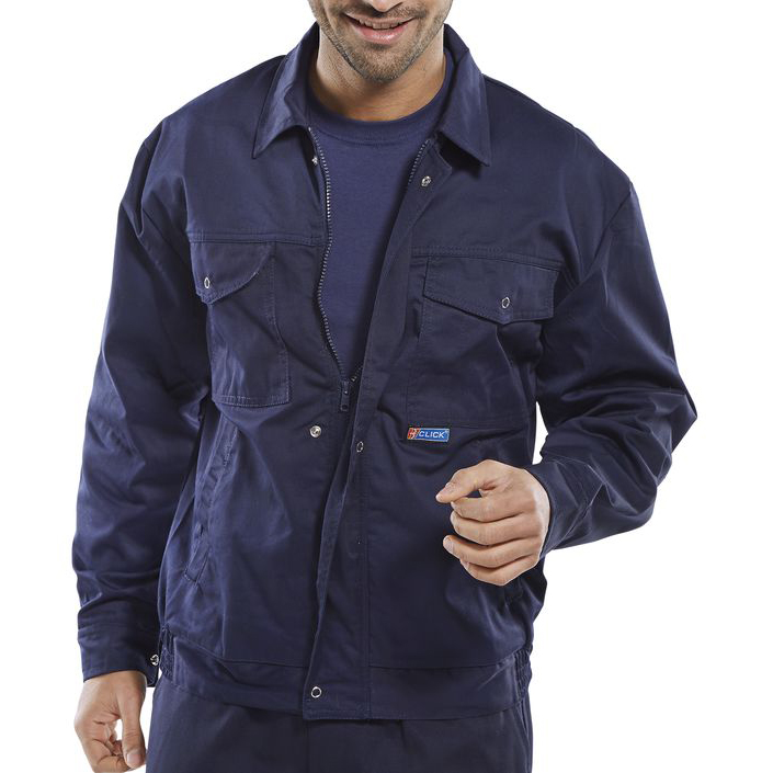 Body Protection Super Click Workwear Drivers Jacket 48in Navy Blue Ref PCJHWN48 *Up to 3 Day Leadtime*