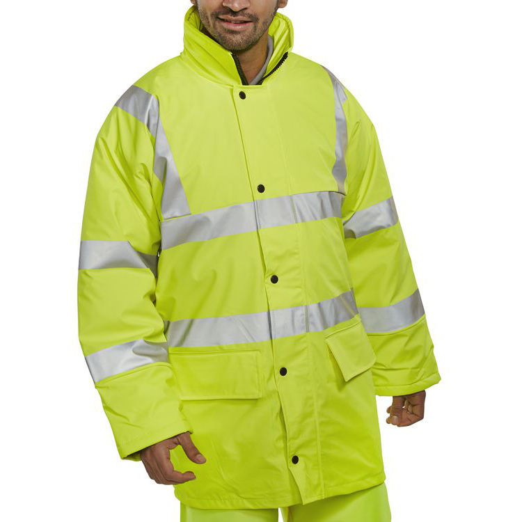 B-Seen High Visibility Breathable Lined Jacket 4XL Saturn Yellow Ref PULJ471SY4XL *Up to 3 Day Leadtime*
