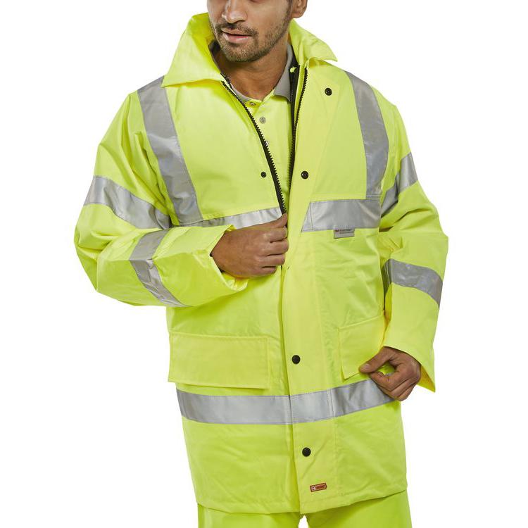 B-Seen 4 In 1 High Visibility Jacket & Bodywarmer 4XL Saturn Yellow Ref TJFSSYXXXXL *Upto 3 Day Leadtime*