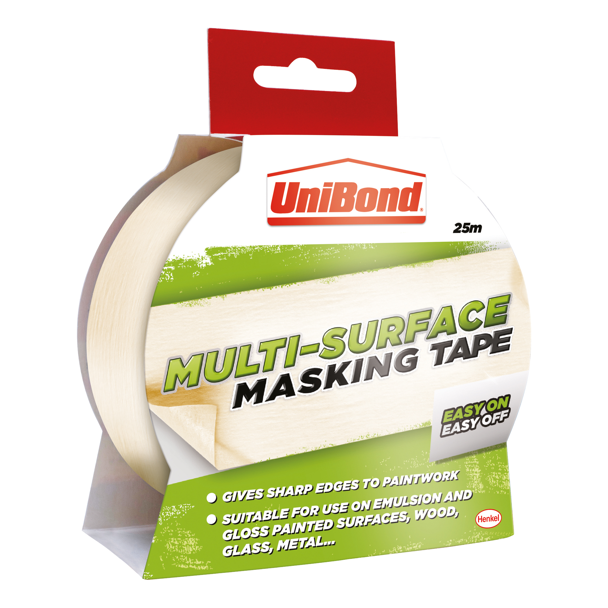 UniBond Masking Tape Easy On/Off 25mm x 25m Ref 1667769