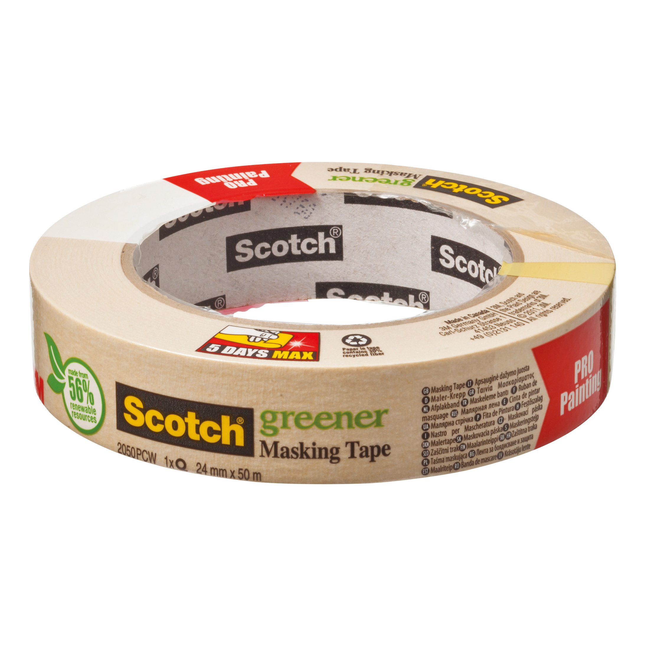 Masking Tape Scotch Greener Masking Tape 24mmx50m Ref 2050 1A PCW