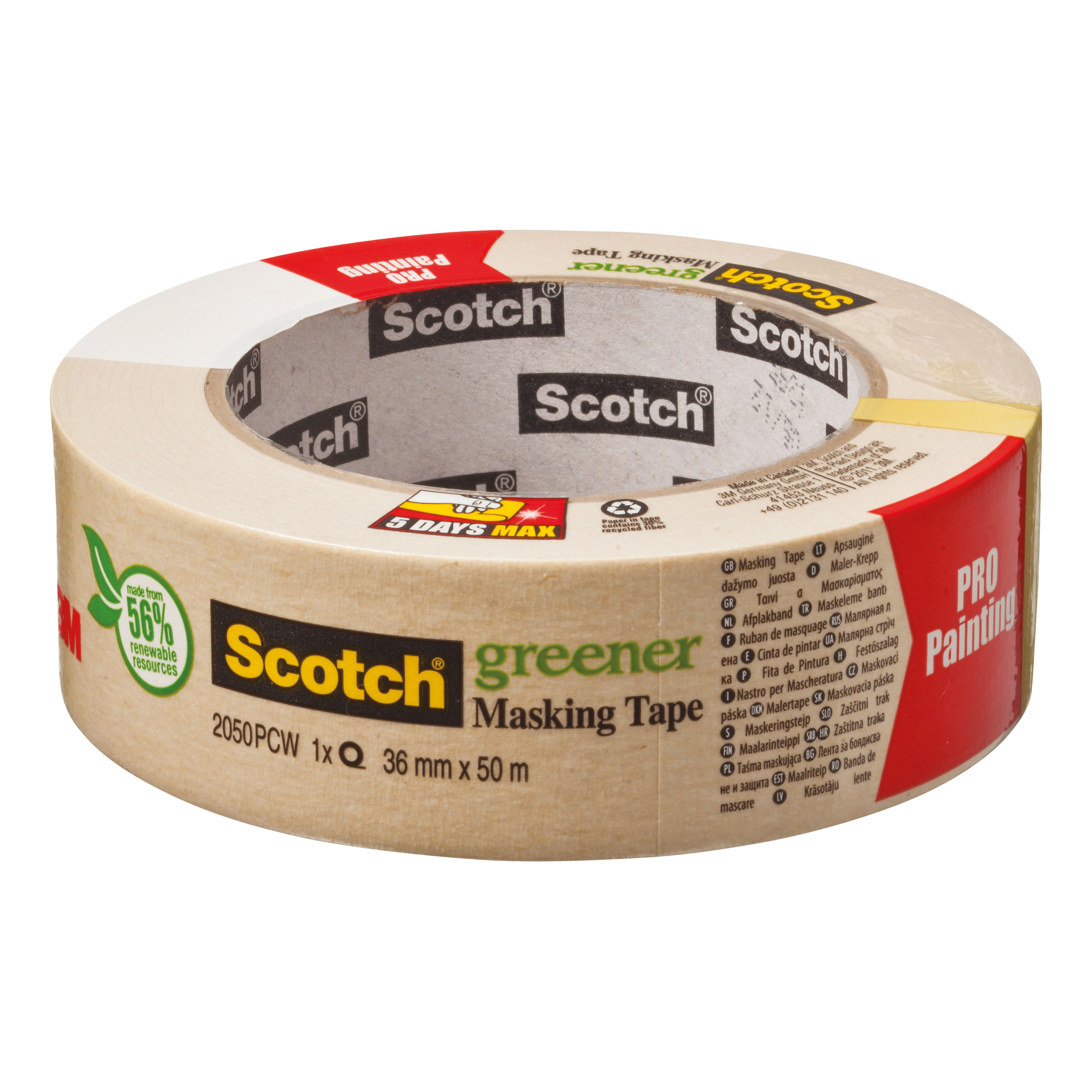 Masking Tape Scotch Greener Masking Tape 36mmx50m Ref 2050 1.5A PCW