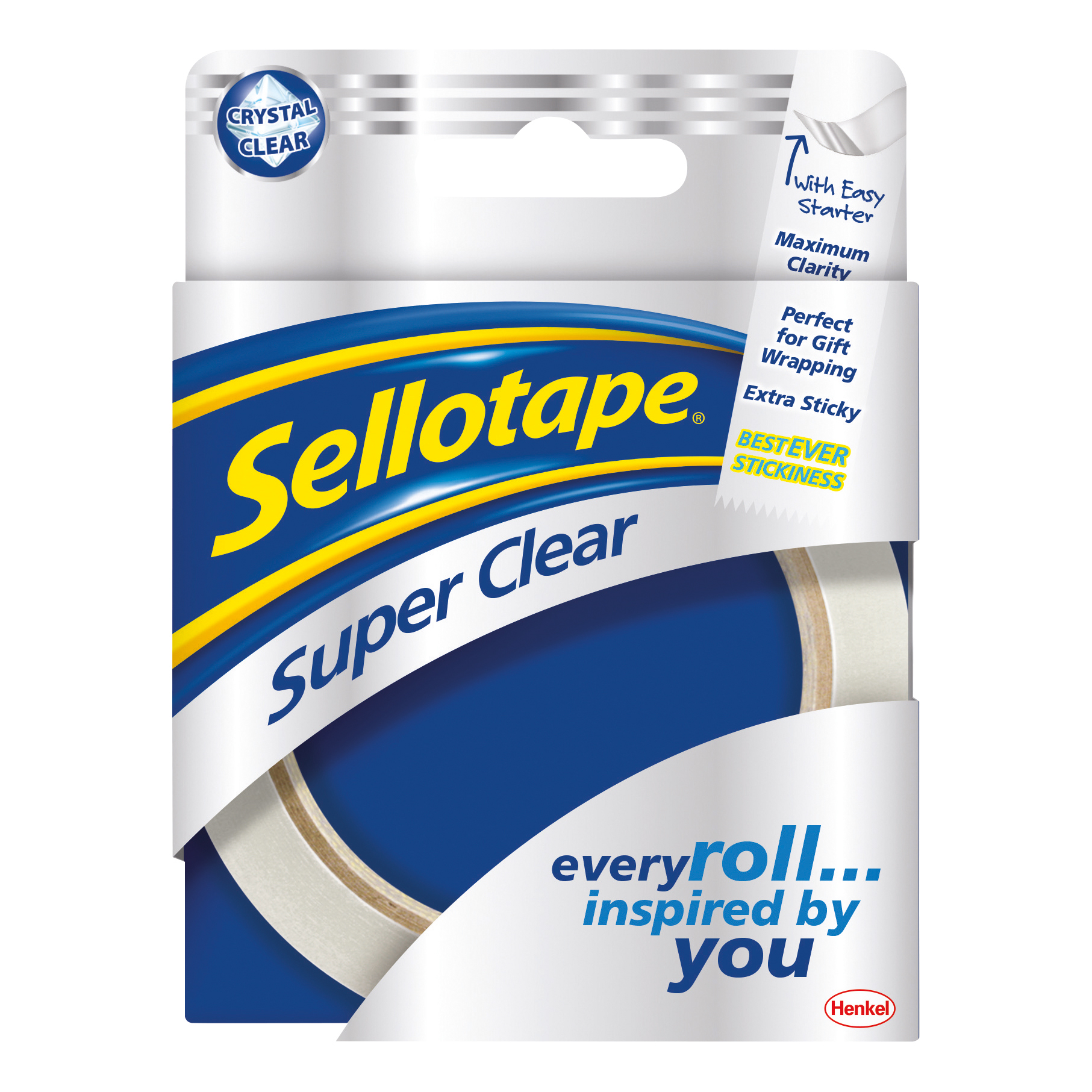 Sellotape Super Clear Premium Quality Easy Tear Tape 24mmx50m Ref 1569087 Pack 6