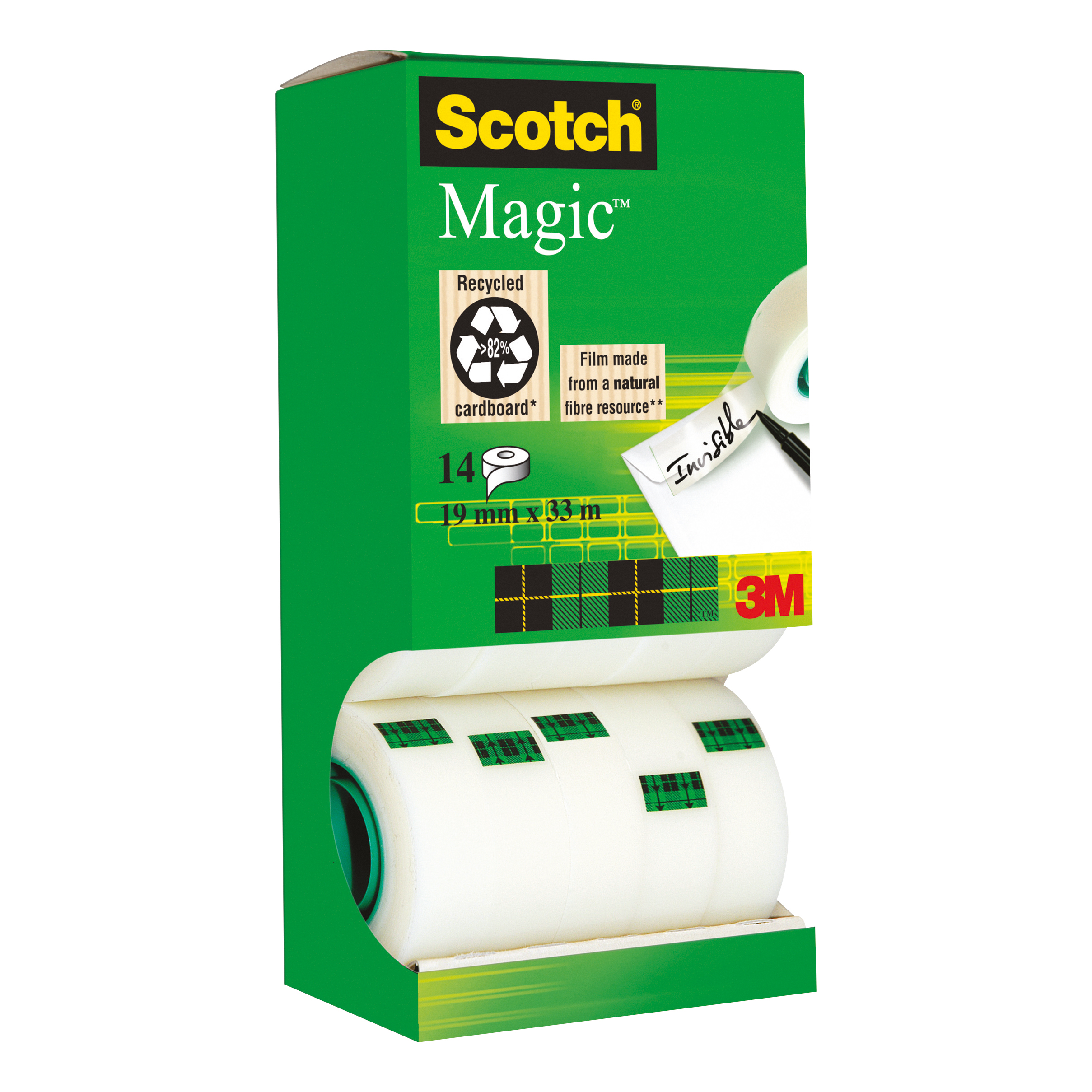 Scotch Magic Tape Value Pack 19mmx33m Ref 81933R14 12 rolls & 2 FREE