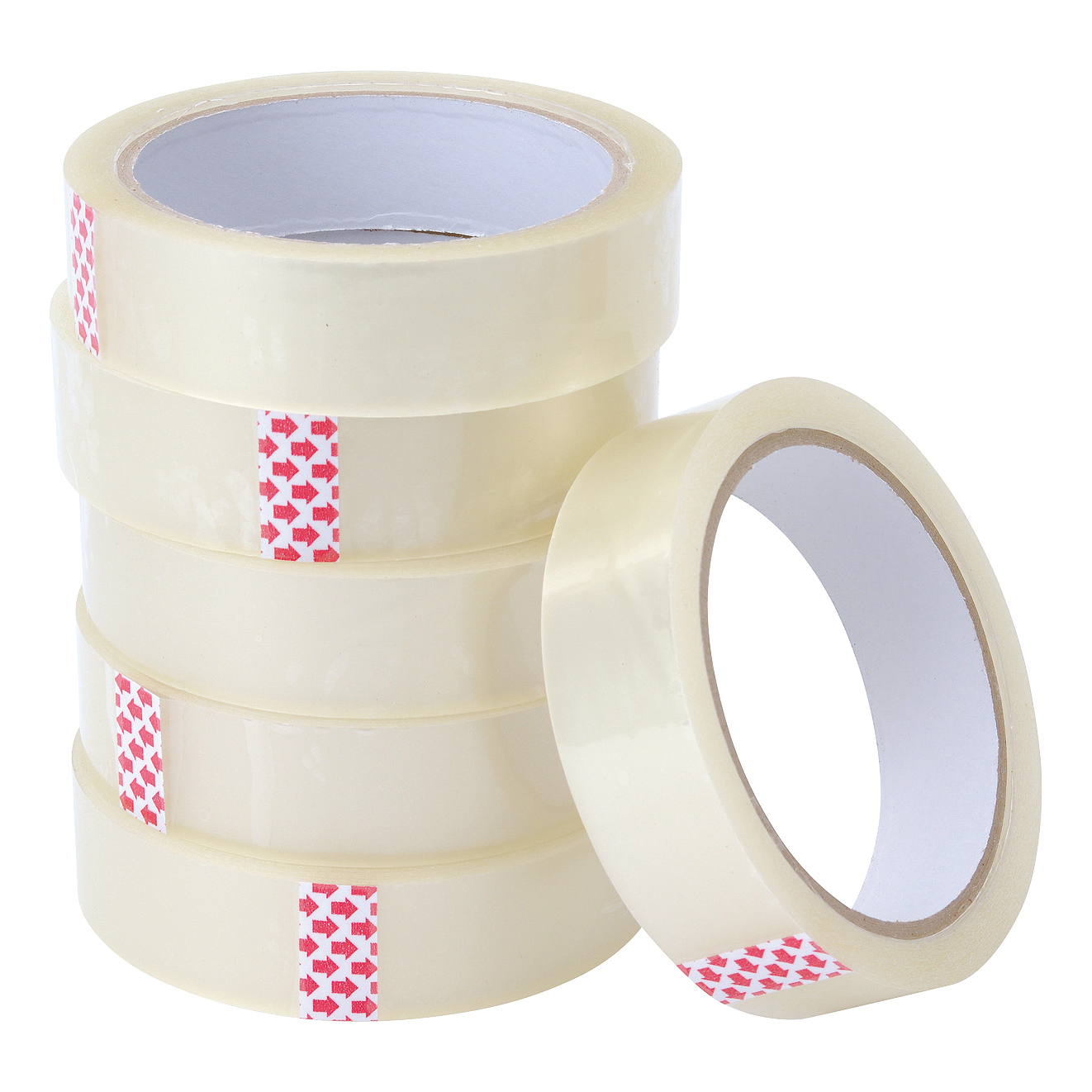 5 Star Value Clear Tape 24mmx66m Polypropylene Pack 6