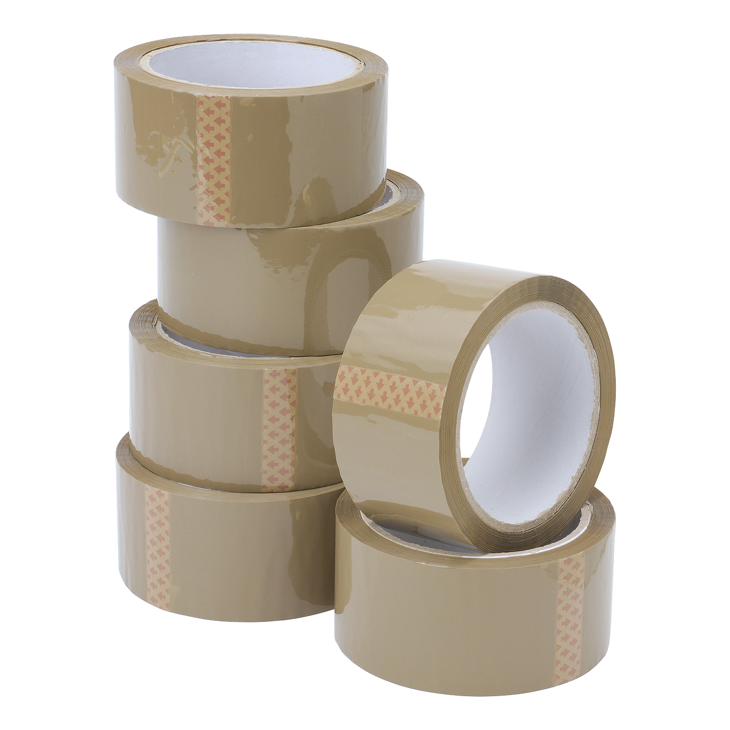 Packing Tape 5 Star Value Packaging Tape 48mmx66m Buff Pack 6