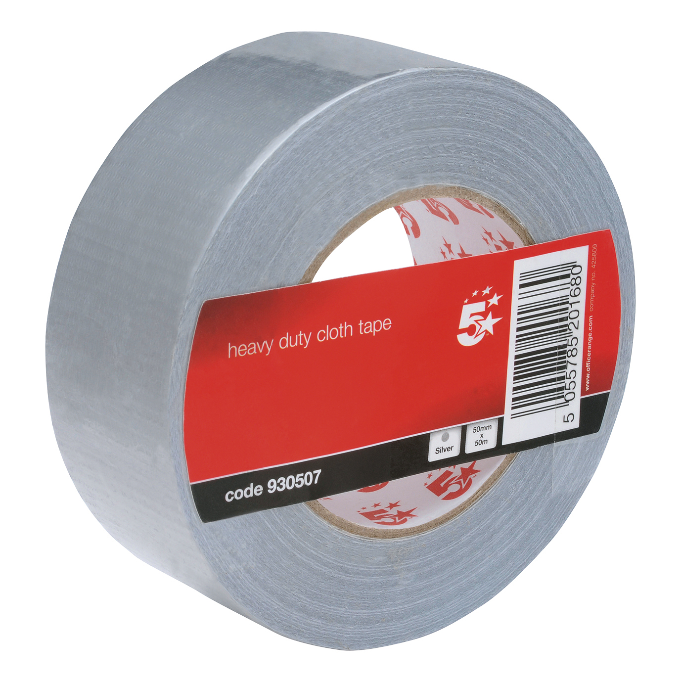 Packing Tape 5 Star Office Cloth Tape Heavyduty Waterproof Tearable Multisurface 50mmx50m Silver