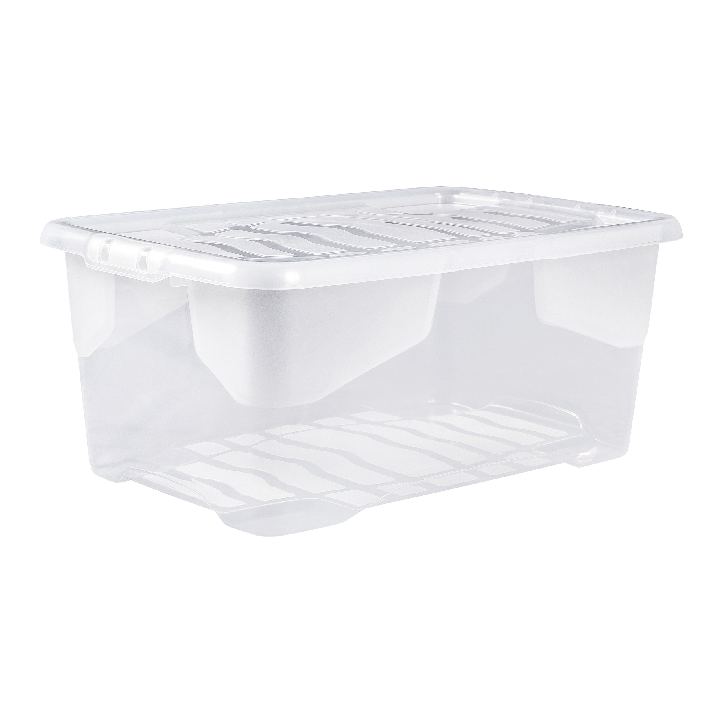 File storage boxes or organizers Strata Curve Box 42 Litre Clear Ref XW202B-CLR