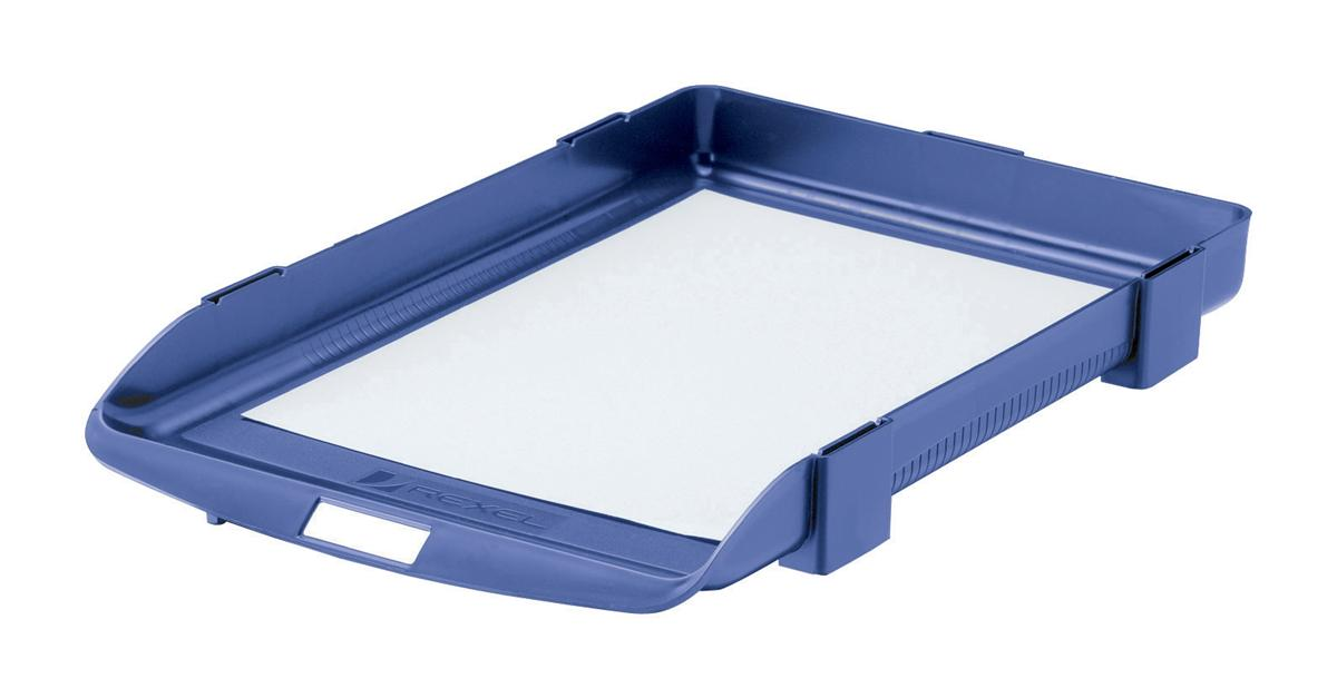 Image for Rexel Agenda Classic 35 Letter Tray Stackable Internal W382xD246xH35mm Blue Ref 25201