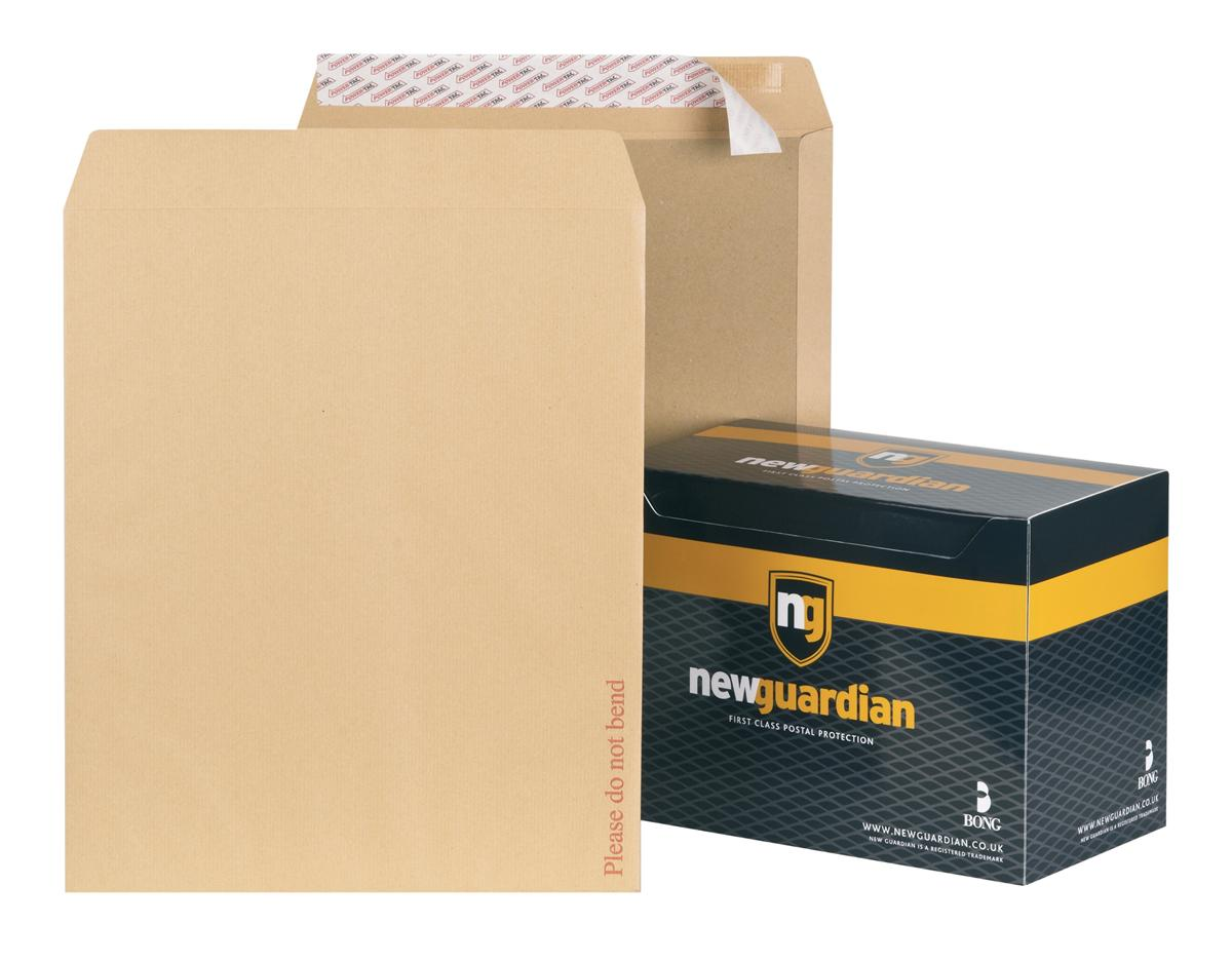 Image for New Guardian Envelopes Heavyweight Board Backed Peel and Seal Manilla 444x368mm [Pack 50]