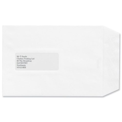 Image for Croxley Script Envelopes Pocket Peal and Seal Window Pure White C5 [Pack 500]