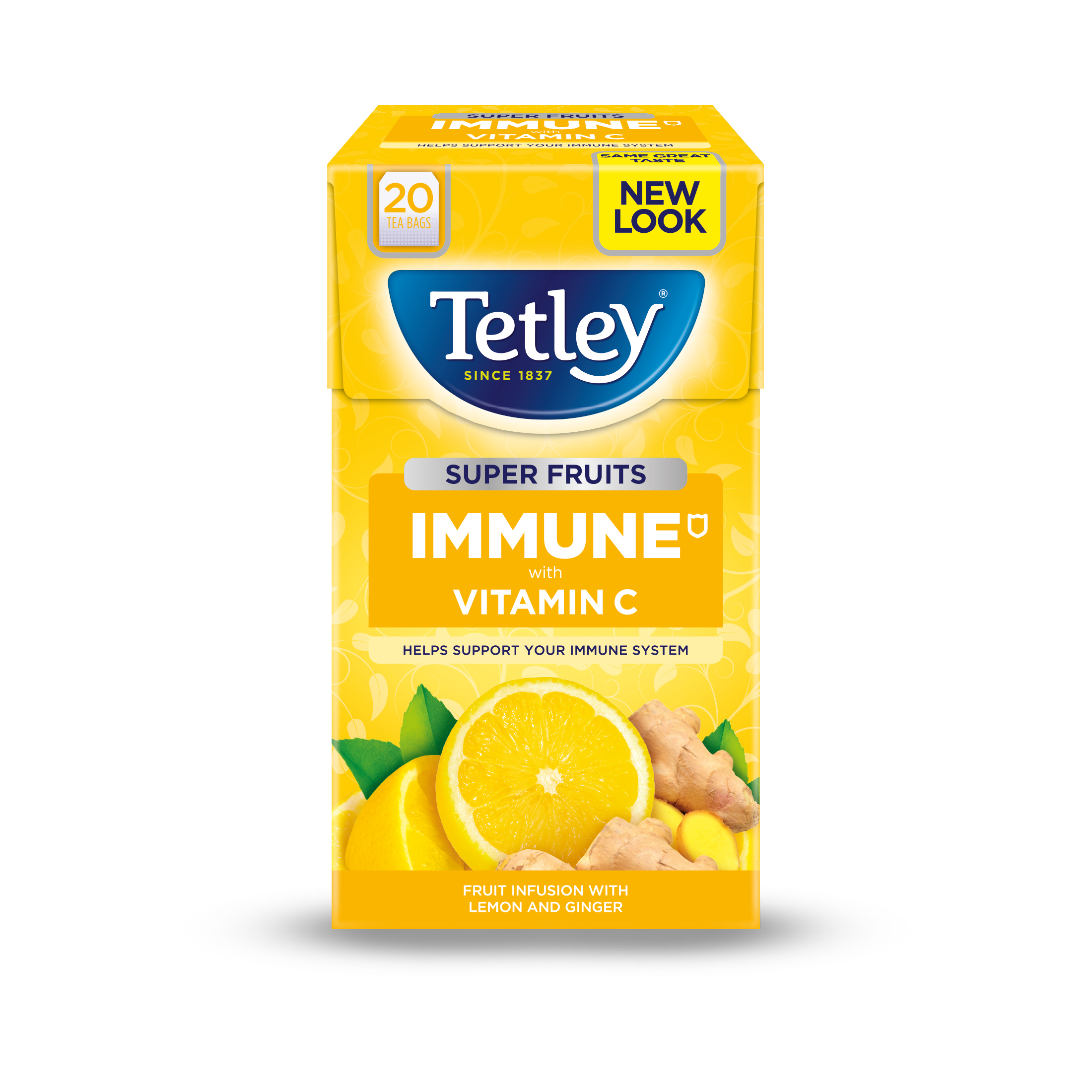 Tetley Super Green Tea IMMUNE Lemon Honey with Vitamin C Ref 4619A Pack 20