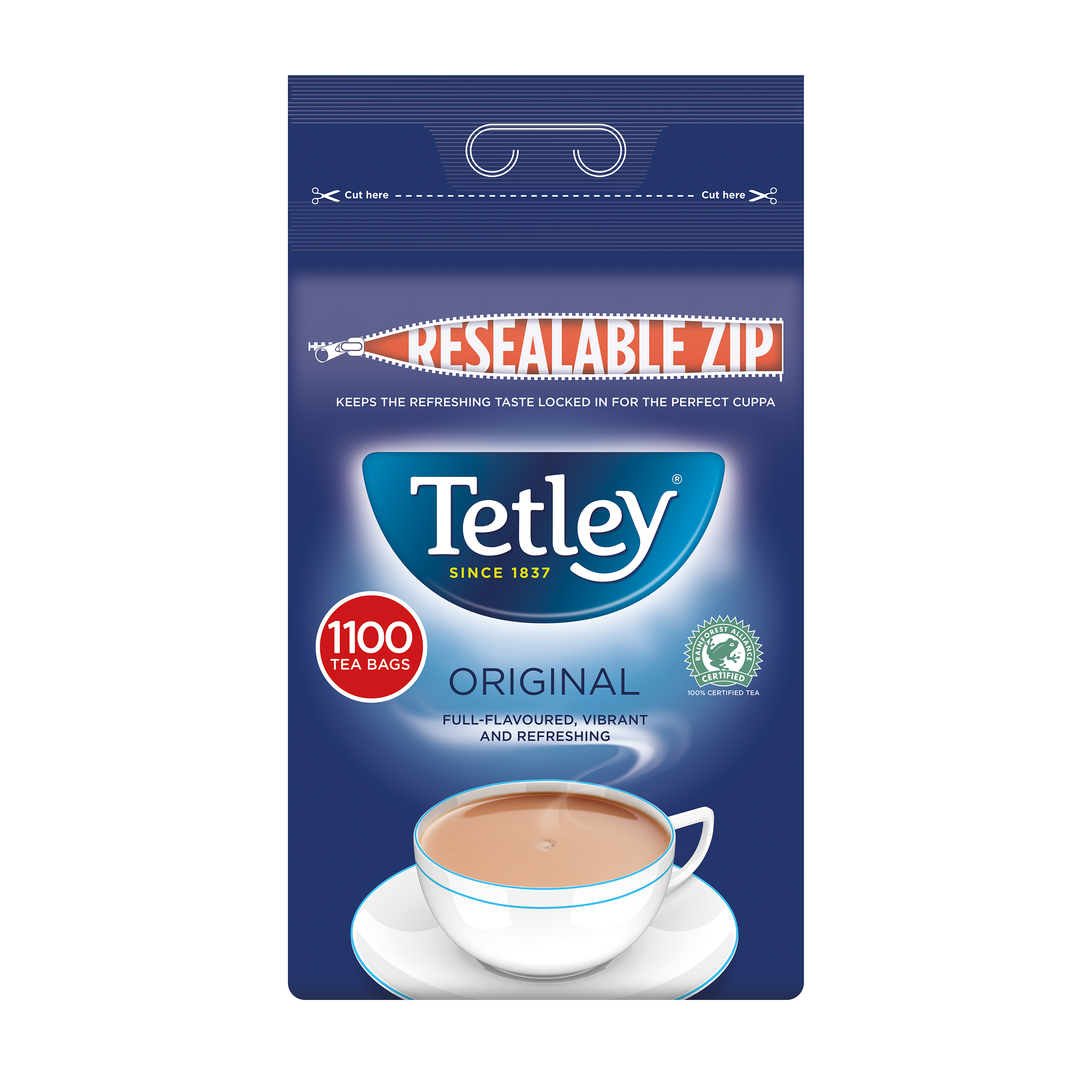 Tea Tetley One Cup Teabags High Quality Tea Ref 1018K Pack 1100