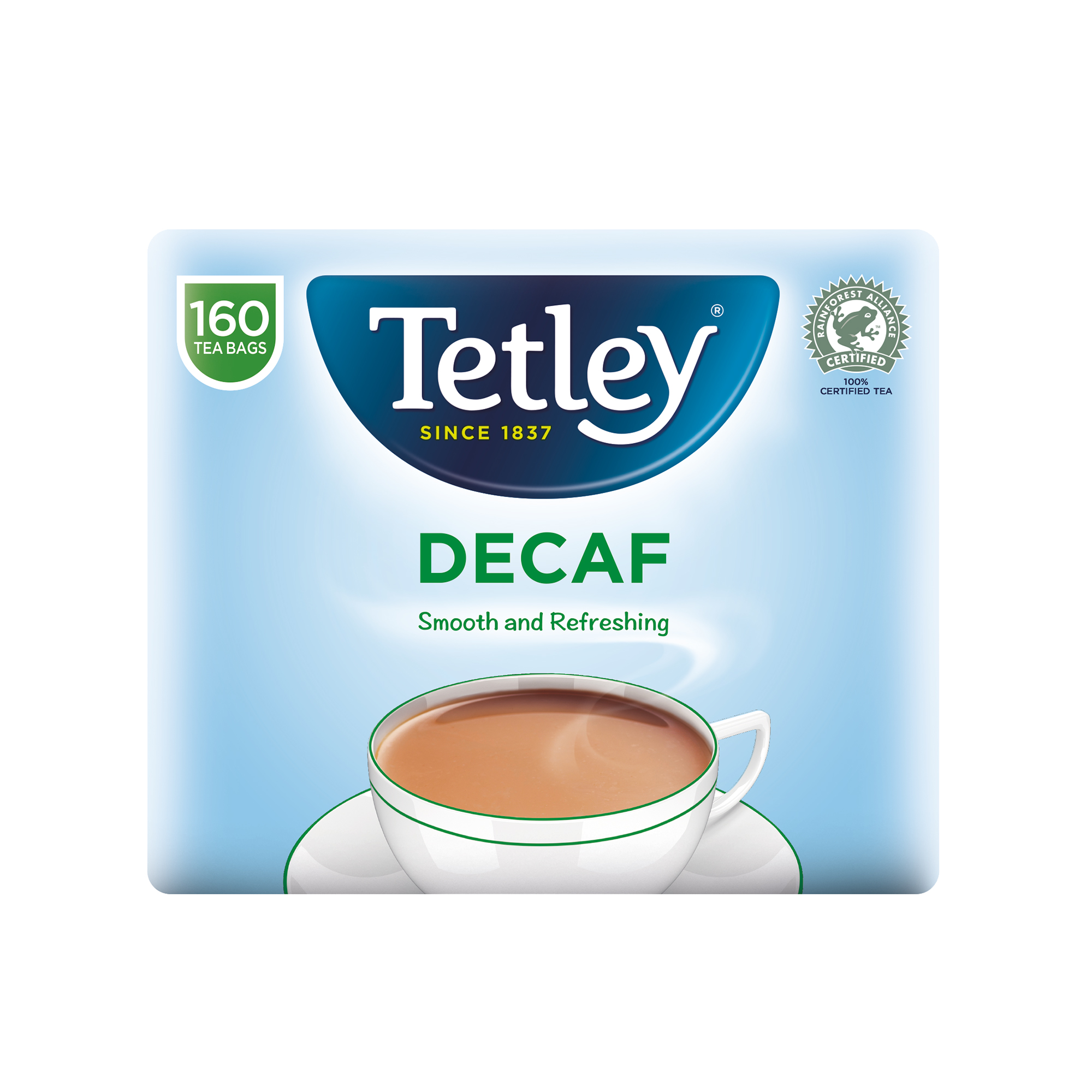 Tetley Tea Bags Decaffeinated High Quality Ref 5001E Pack 160