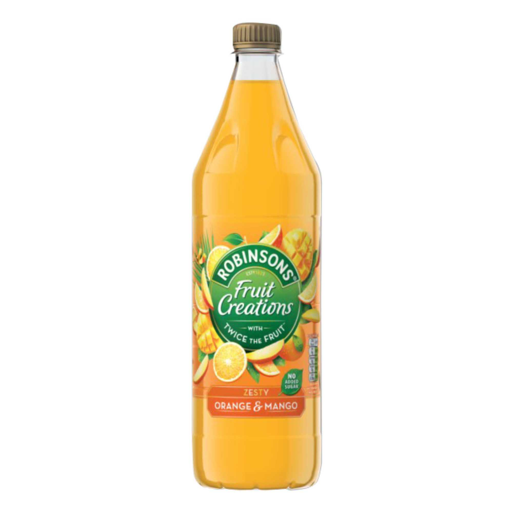 Robinsons Creation Squash No Added Sugar 1 Litre Orange & Mango Ref 962001 Pack 12