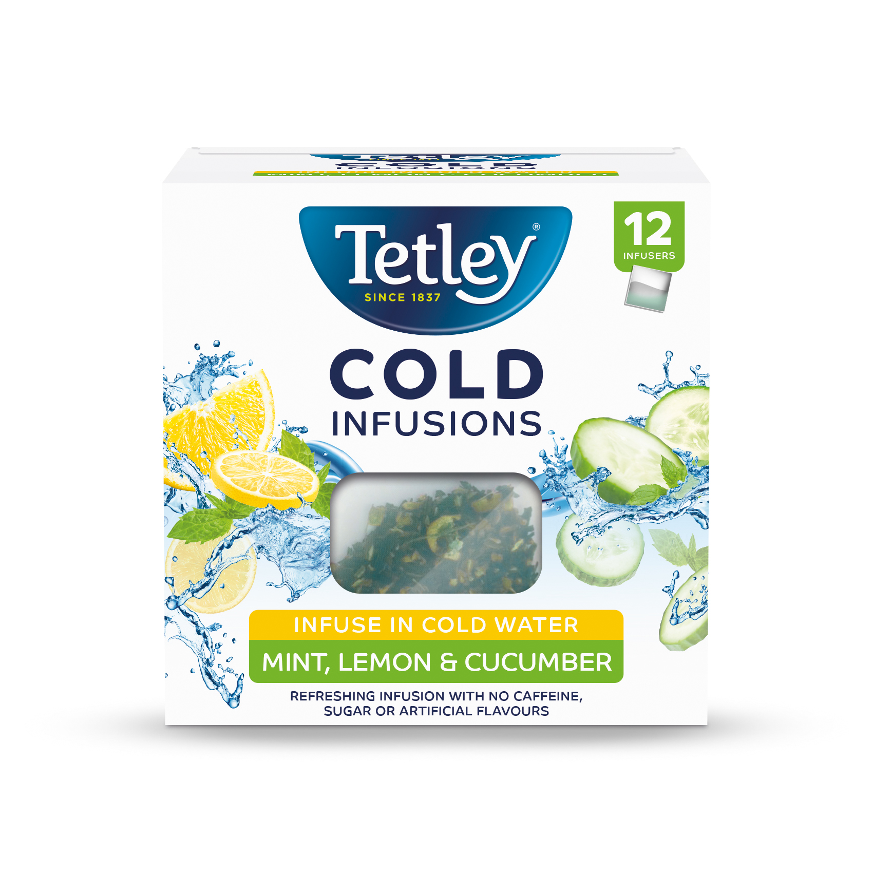 Tetley Cold Infusions Mint Lemon & Cucumber  Ref 1603A [Pack 12]