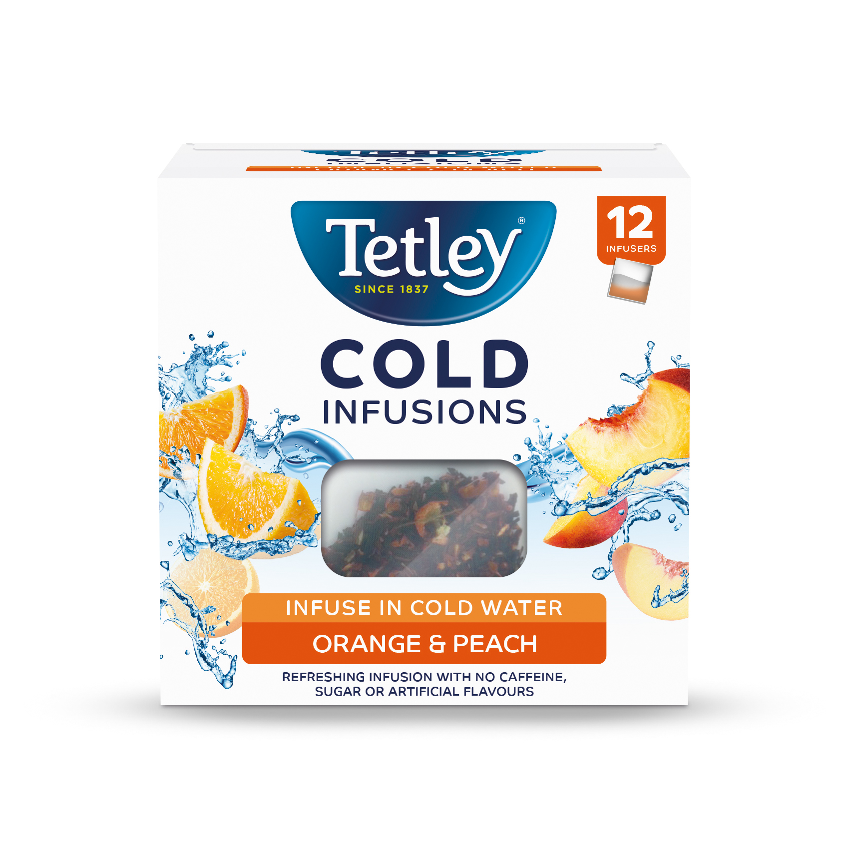 Tea Tetley Cold Infusions Peach & Orange Ref 1601A  Pack 12