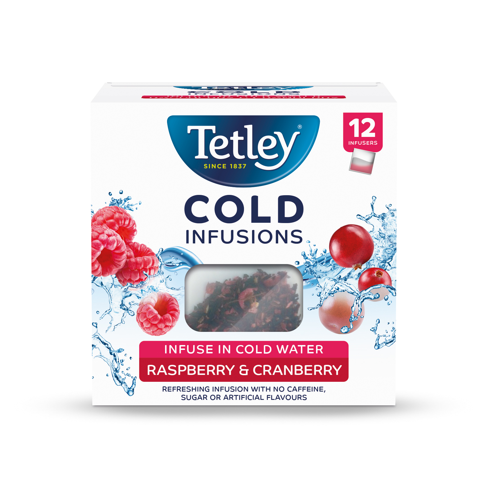 Tea Tetley Cold Infusions Raspberry & Cranberry Ref 4692A Pack 12