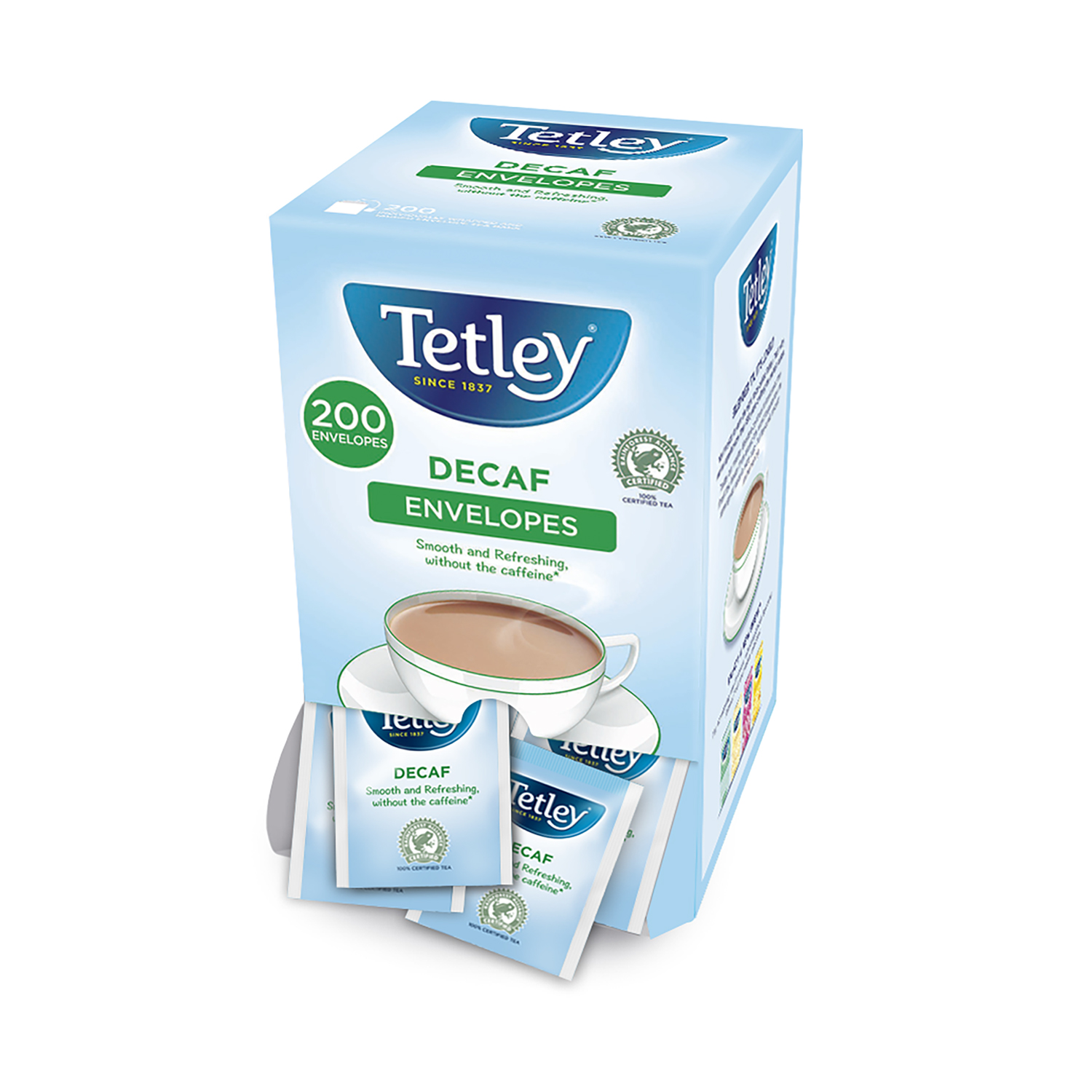 Tea bags Tetley Tea Bags Decaffeinated Ref 1160A Pack 200