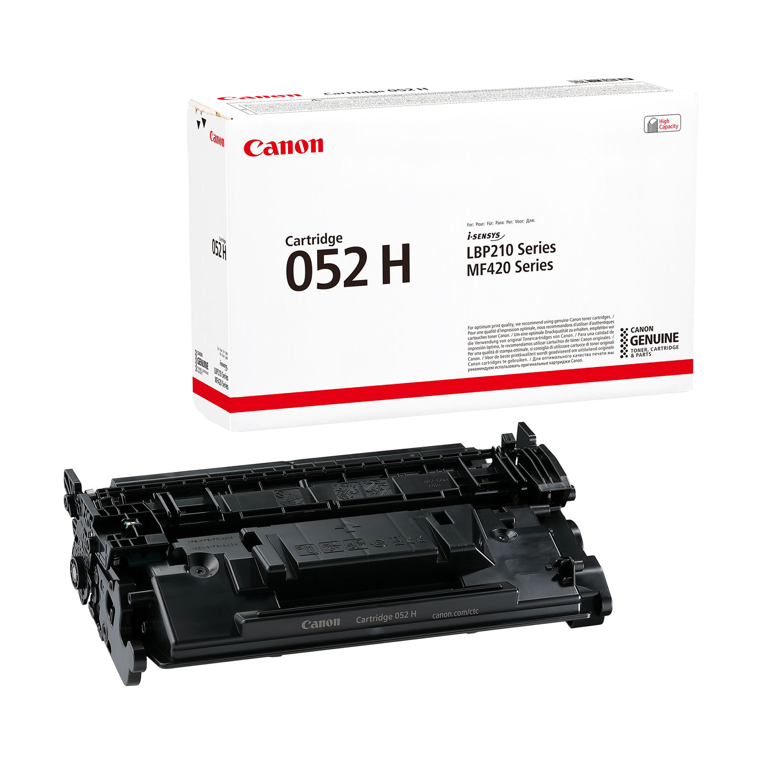 Canon 052H Laser Toner Cartridge High Yield Page Life 9200pp Black Ref 2200C002