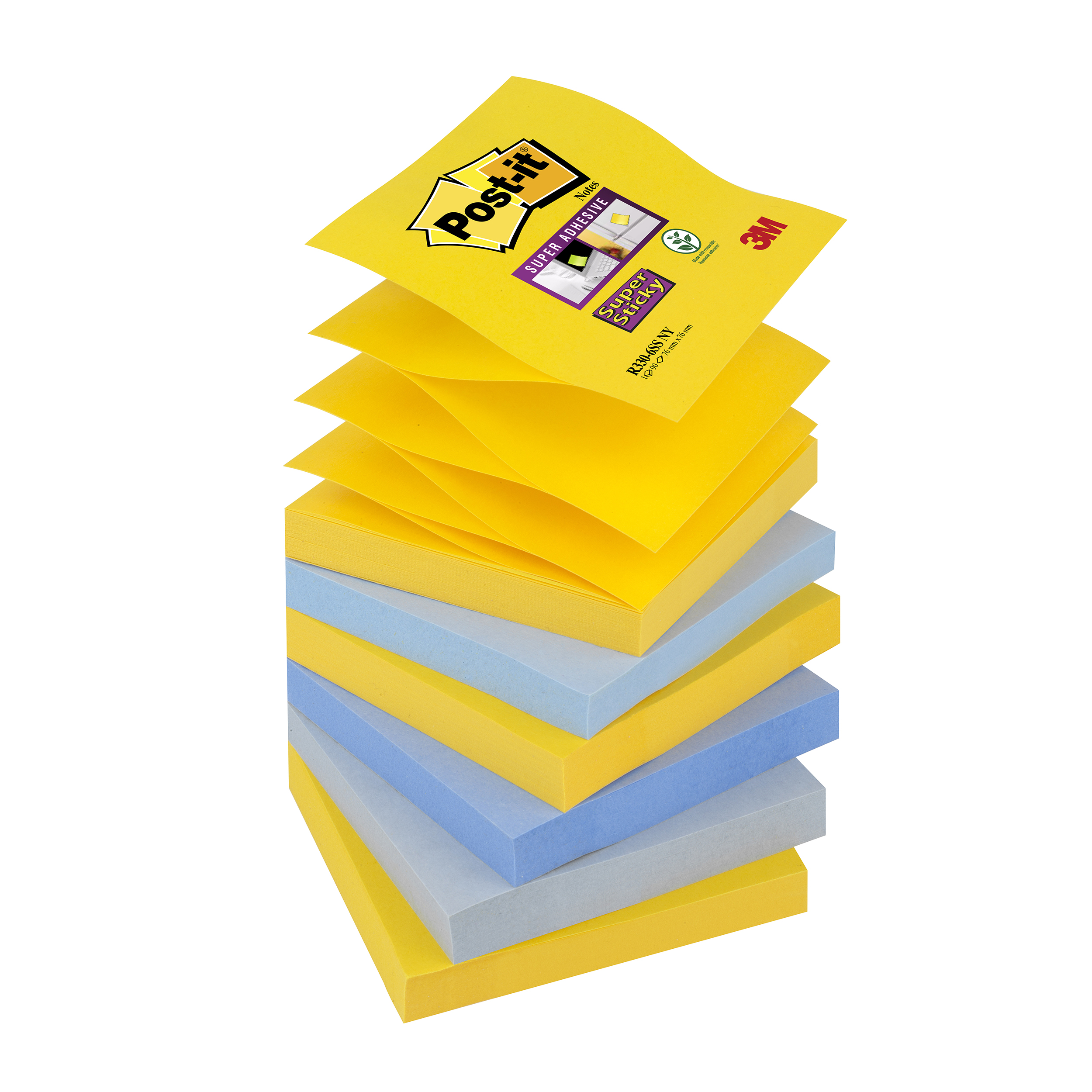 Self adhesive note paper Post-it Super Sticky Z-Notes New York 76x76mm Ref R330-6SS-NY Pack 6