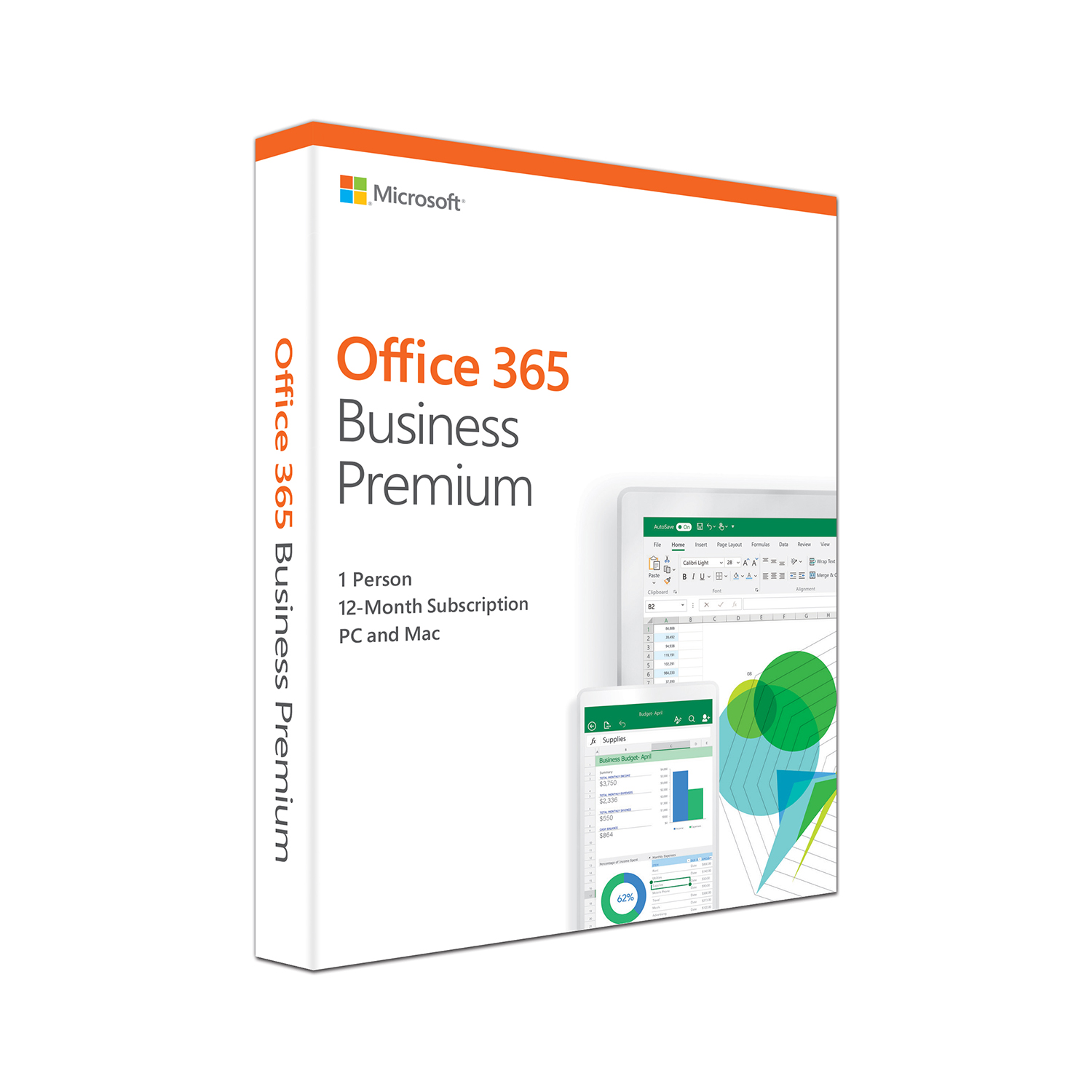 Self adhesive labels Microsoft Office 365 Business Premium Software 2019 Ref KLQ-00388