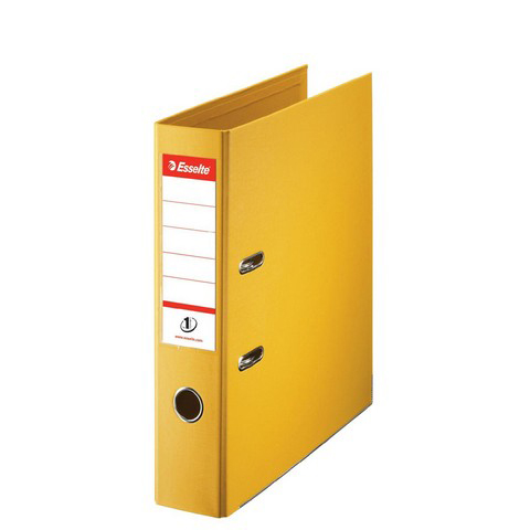 Lever arch file Esselte No. 1 Lever Arch File PP Slotted 75mm Spine A4 Yellow Ref 811310
