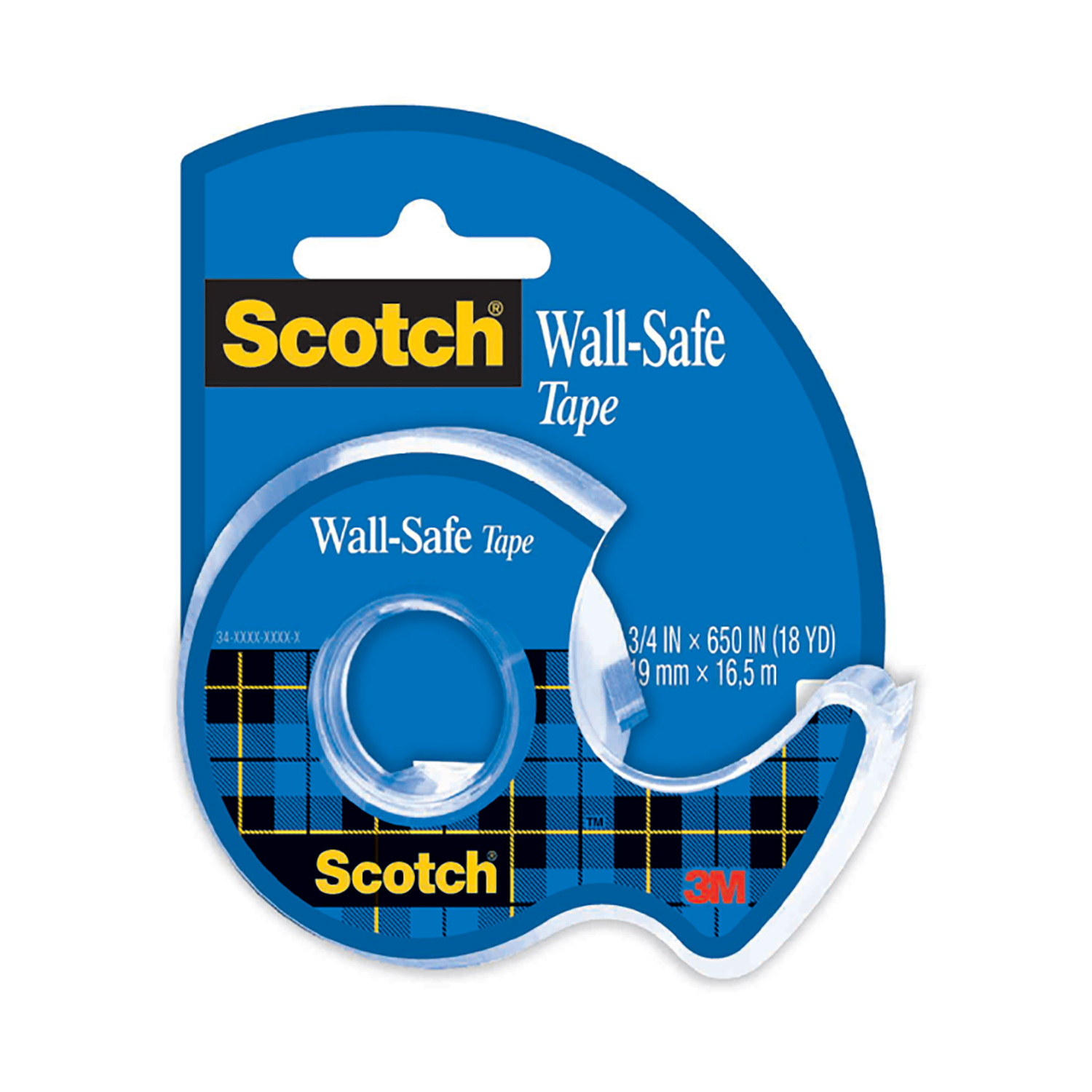Transparent tape Scotch Wall-Safe Tape 19mmx16.5m Ref WST1965
