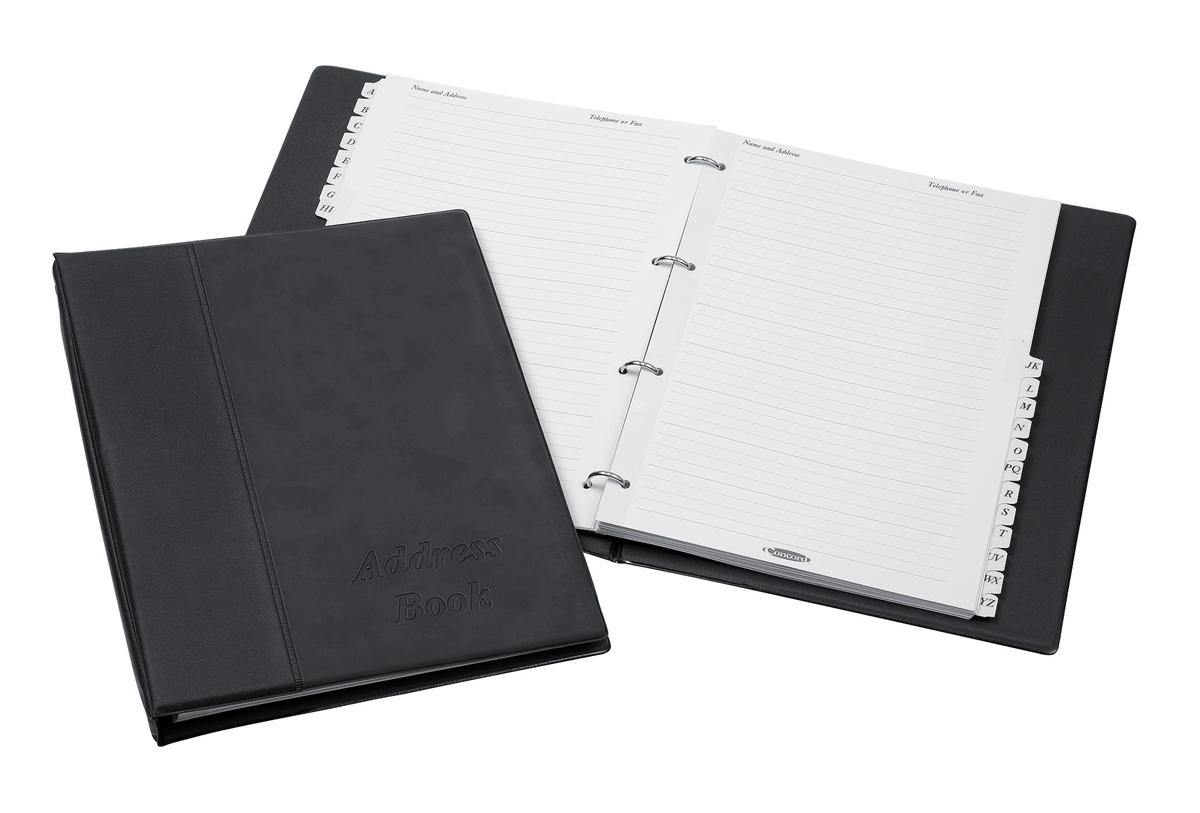 Image for Telephone Index Book Binder with Matching A-Z Index and 20 Sheets A4 Black