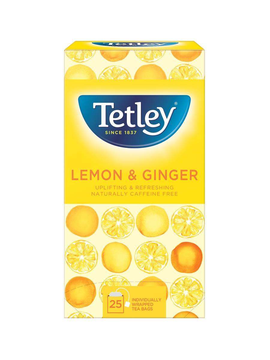 Tetley Tea Bags Green Tea with Lemon/Ginger Ref 1579a [Pack 25]