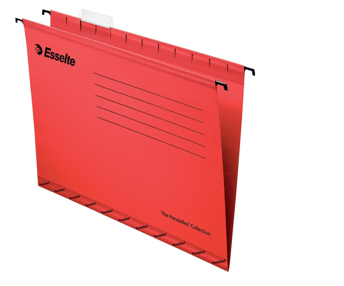Image for Esselte Classic Suspension File Reinforced Foolscap File Red Ref 90336 [Pack 25]