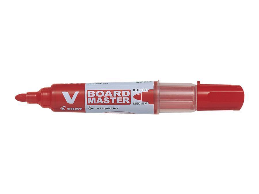 Image for Pilot V Board Master Whiteboard Marker Red Ref 454101002-1 [Pack 10]