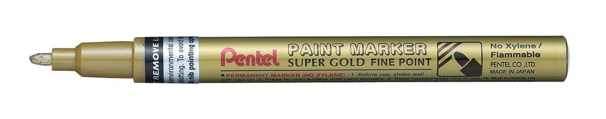 Image for Pentel Paint Marker Metallic Fine Point Gold Ref MSP10-X [Pack 12]