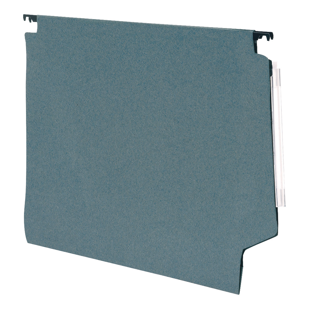 5 Star Office Lateral Suspension File Manilla 15mm V-base 180gsm Foolscap Green Pack 50